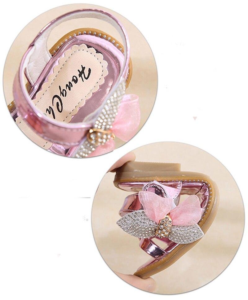 GAORUI Summer Korean childrens casual shoes sweet retro castles sandals flat ribbon ribbons cute princess open toe sandals