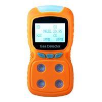 1800 мАч Перезаряжаемый USB четырех в одном ЖК дисплей цифровой дисплей детектор газа EX/O2/H2S/CO детектор окиси углерода анализатор детектор (желт