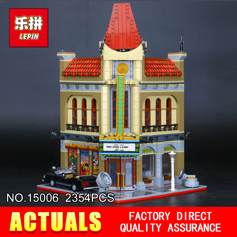 New LEPIN 15006 2354pcs Palace Cinema Model Building Blocks set Bricks Toys Compatible with 10232 Educational Children days Gift купить