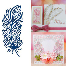 Eastshape 1Pcs/lot Metal Cutting Dies 2019 Scrapbooking for Card Making DIY Embossing Cuts New Craft European Style Feather