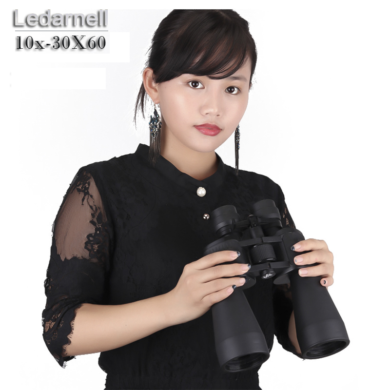 Ledarnell High quality font b telescope b font 10 30X60 HD Central focus bak4 binoculars Zoom