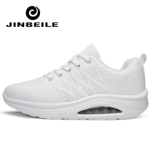 White Black Women Toning Shoes Height Increasing Fitness Swing Female Platform Lace Up  Slimming Air Sports Sneakers