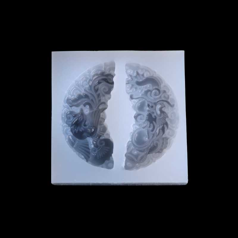 HEARTMOVE, colgante de jade tallado de dragón Phoenix, molde de silicona líquida, molde de resina para colgante de joyería DIY, Molde de resina para collar
