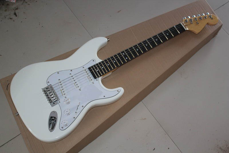 Factory Custom new rosewood fingerboard white big headstock Head Stratocaster Electric Guitar 1111