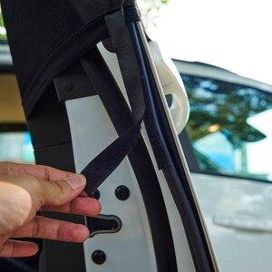 Image 5 - 2Pcs רכב חלון כיסוי שמשיה וילון UV הגנת מגן שמש צל רשת שמש יתושים אבק הגנה
