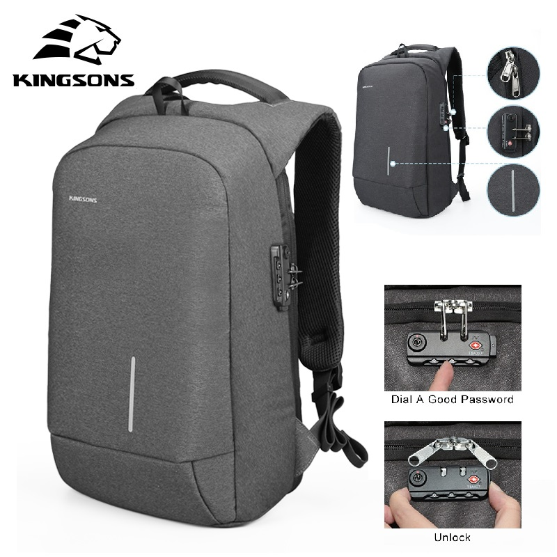 High Quality Business Backpack Waterproof Password Lock Backpack Shockproof Laptop School Bag Backpack Vintage Men