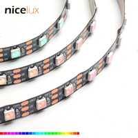 1 M 3 M 5 M WS2812B Pixel bande LED flexible 30,60, 72,96, 144 LED s/m, blanc/noir PCB, Non-étanche 5 V Dream Color WS2812 numérique
