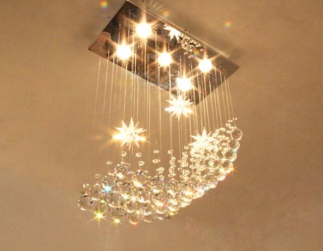US $165.75 49% OFF Platz kristall lampe restaurant lampe kronleuchter  romantische moderne einfache schlafzimmer lampe wohnzimmer kristall  kronleuchter ...