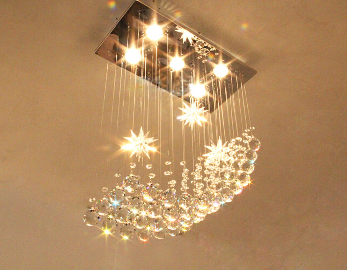 Square crystal lamp restaurant lamp chandelier romantic modern simple bedroom lamp living room crystal chandelier ceiling light restaurant crystal lamp square postmodern simple stainless steel bronze villa luxury led modern crystal chandelier for bedroom