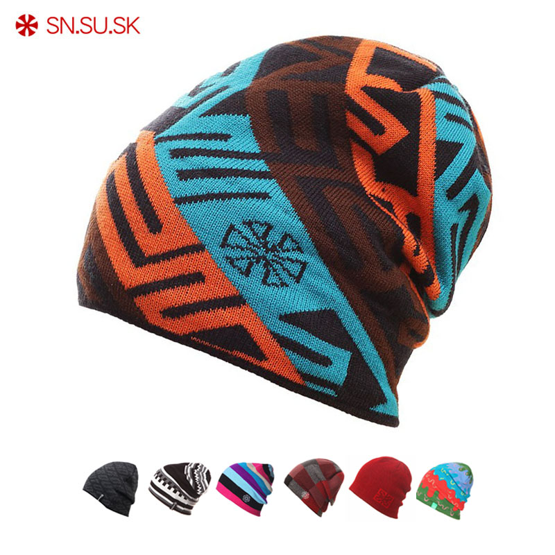 SN.SU.SK 2019 Warm Winter Hat Knitted Beanies Hats For Men Women Caps Skullies Gorros Casual Bonnet Beanie Cap
