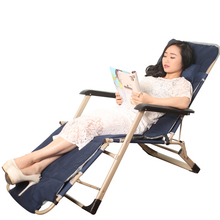 Comfortable Outdoor Sun Lounge Camping Folding Beach Chair Bed Adjustable Angle Waterproof Breathable Balcony Chair Furniture
