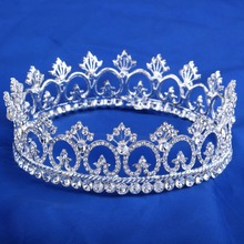 Прозрачного хрусталя павлин короны, Невесты стиль горный хрусталь корона тиару волос ювелирных изделий волос HG072