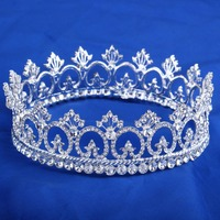 Clear Crystal Peacock Crowns Bride Style Rhinestone Crown Tiara Bridal Hair Jewelry Wedding Hair Accessories HG072