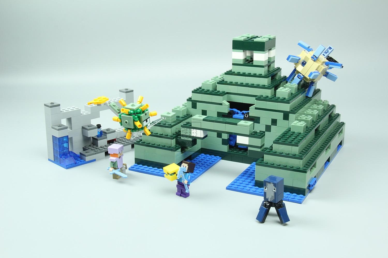 Online Shop Minecraft Set The Ocean Monument Building Bricks Block Lego 21124 End Portal Compatible With 21136 Aliexpress Mobile