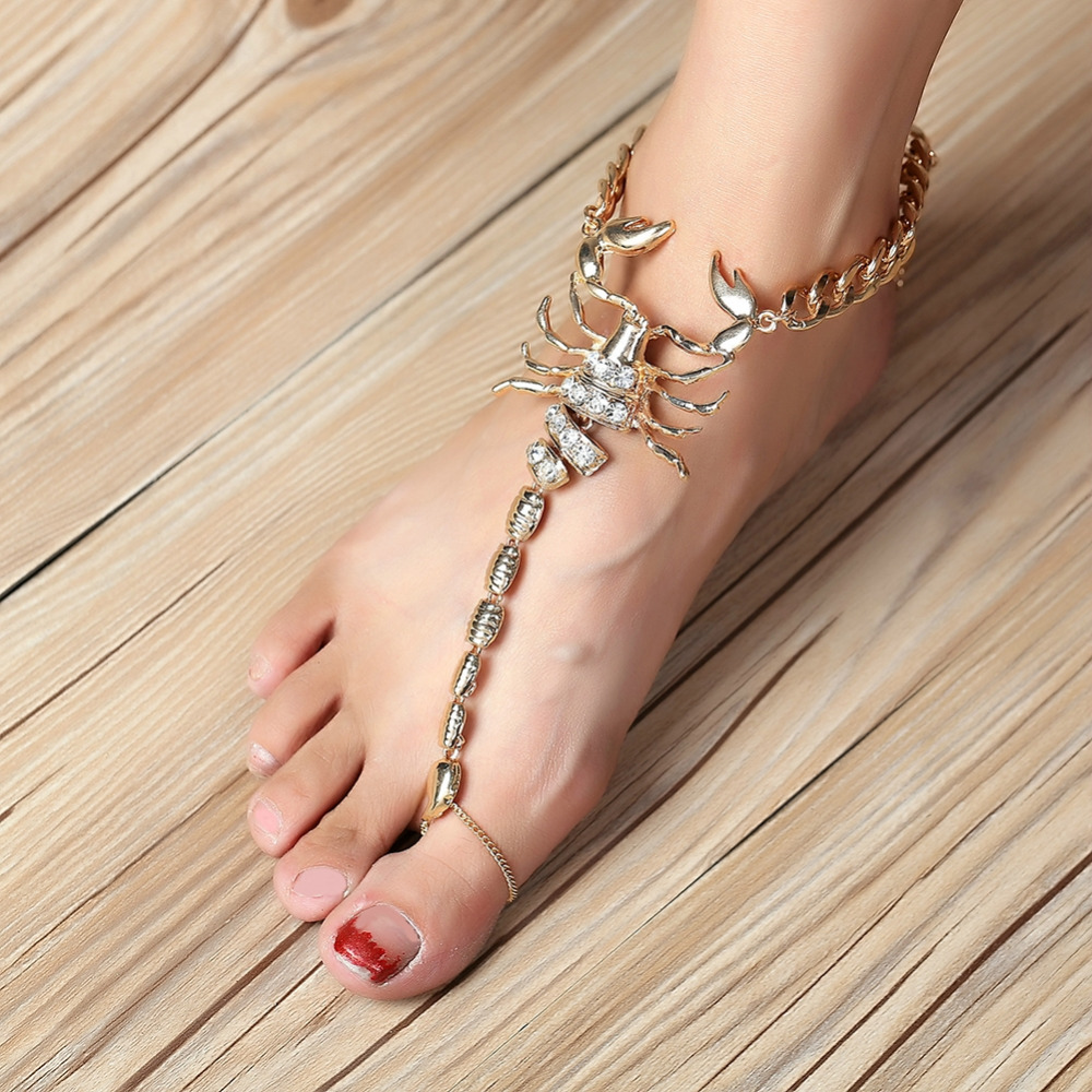 2017 New Personality Alloy Scorpion Anklet Jewelry Leg For Women To Beach Chain Anklet
