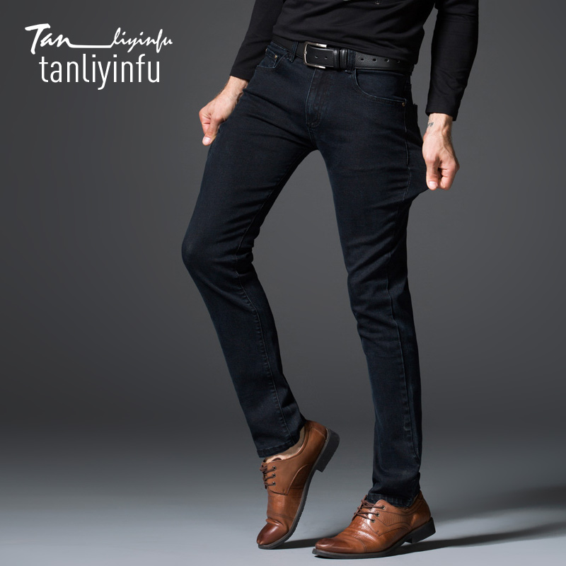 Tanliyinfu2017 spring and summer new high quality blue men s jeans cotton 98 spandex 2 skinny