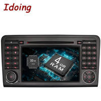 Idoing Android6 0 2G 32G 8Core 2Din For MercedesBenz W164 X164 Car Multimedia Player Steering Wheel
