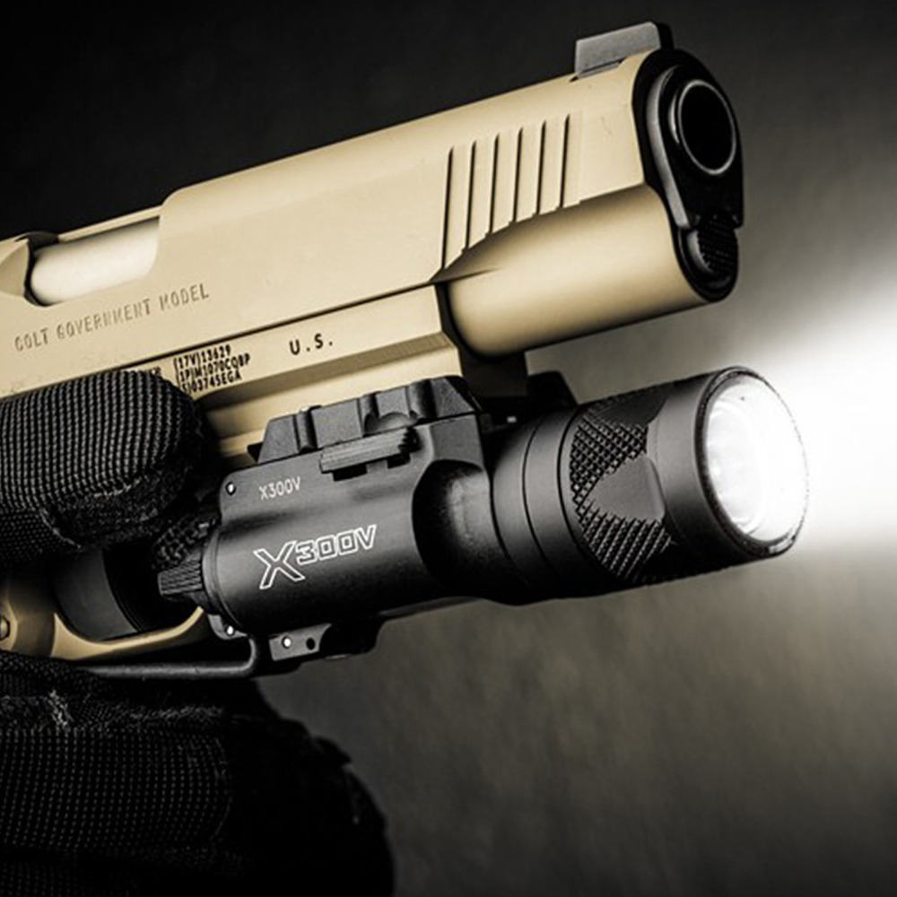 Tactical X300V Pistol Gun Light Strobe Weapon Light Lanterna LED Flashlight Fit 20mm Rail For GLOCK 18C 19 26 Streamlight цены