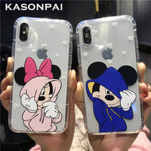 Cartoon Mickey Minnie Mouse Case Voor iPhone 6 6 s 8X7 Plus XR XS MAX Cover Voor iPhone 7 leuke Donald Daisy Duck Soft TPU Fundas(China)