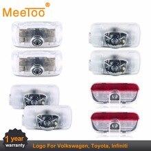 MeeToo Led Car Welcome Door Light  Auto Logo Laser Projector LED Door Warning Light For Toyota Camry Volkswagen Passat Infiniti