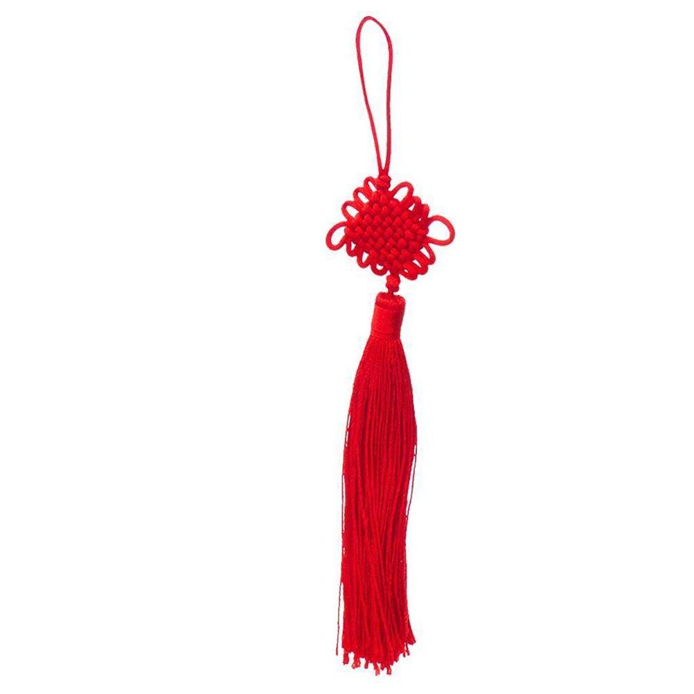 1 Stück Chinesischen Knoten Quaste Feng Shui Glück Auto Decor Hängen String Red Startseite Auto Dekoration