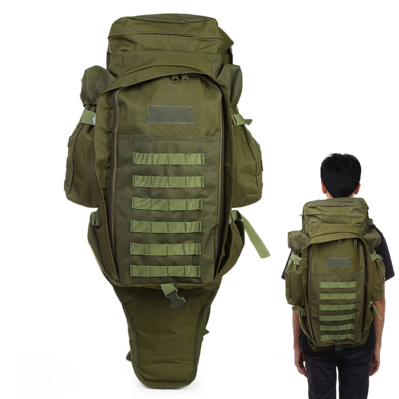 купить 60L Outdoor Military Backpack Pack Rucksack Tactical Bag for Hunting Shooting Camping Trekking Hiking Traveling недорого