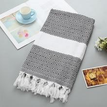 New Oversized Turkish Bath Towel with Tassel Soft Terry Cloth Striped Adult Beach Towel Extra Large Peshtemal Bath Sheet Scarf