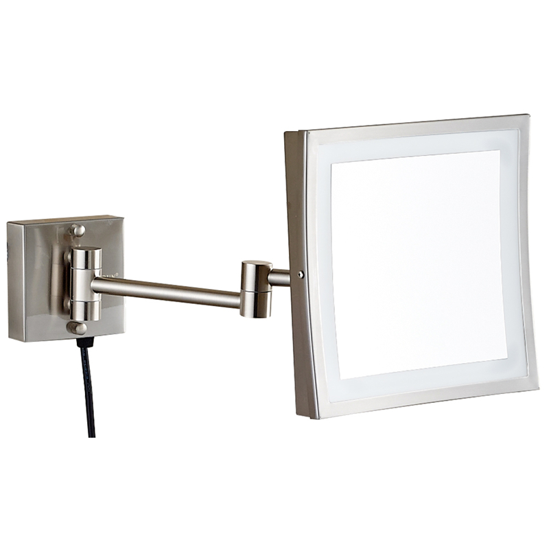 gurun led makeup mirror 8 inch wall mounted mirror3x magnifying bathroom mirror with led light blank cosmetic shaving 1802dn