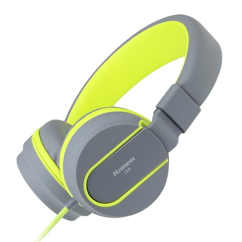 Original Brand Big Headphones 3.5mm Headband Earphones with Mic For iPhone Samsung Xiaomi Phones Stereo Headset For PC Tablets