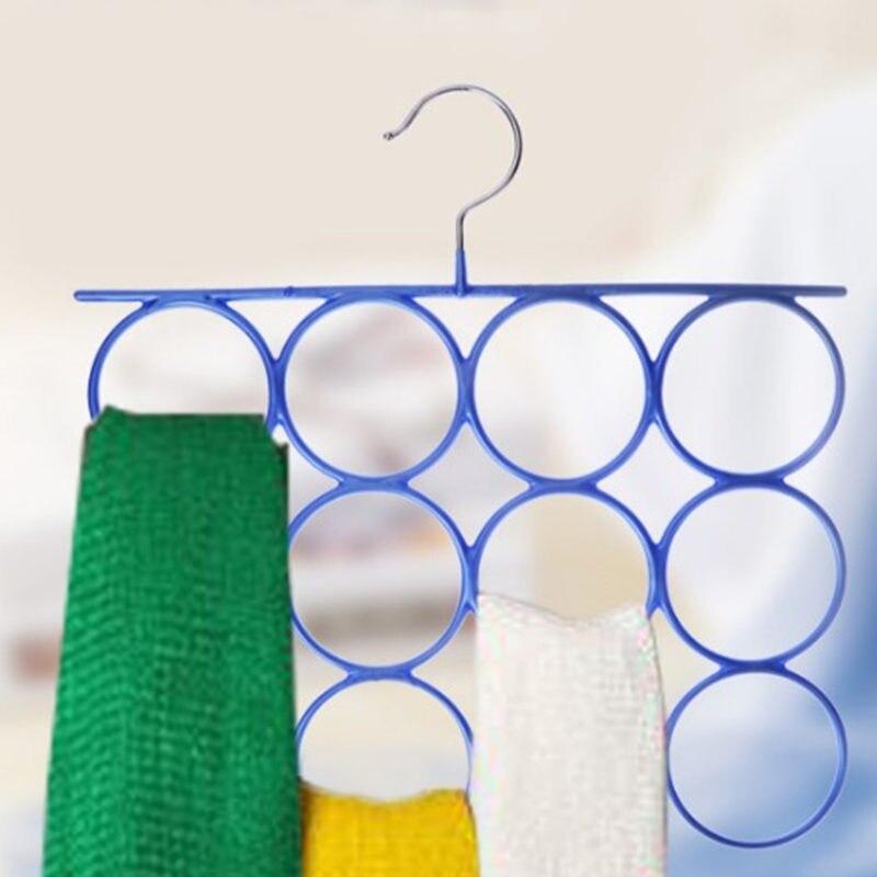 12 Circle Multifunctional Hanger Antiskid Storage Rack Holder For Scarf Tie Belt Underwear Wardrob Closet Clothes Organizer
