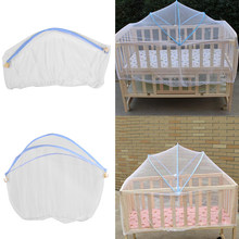 Baby Cradle Bed Mesh Mosquito Nets 2019 Foldable Summer Baby Arched Mosquitos Nets Portable Crib Netting For Infant Baby Cradle(China)