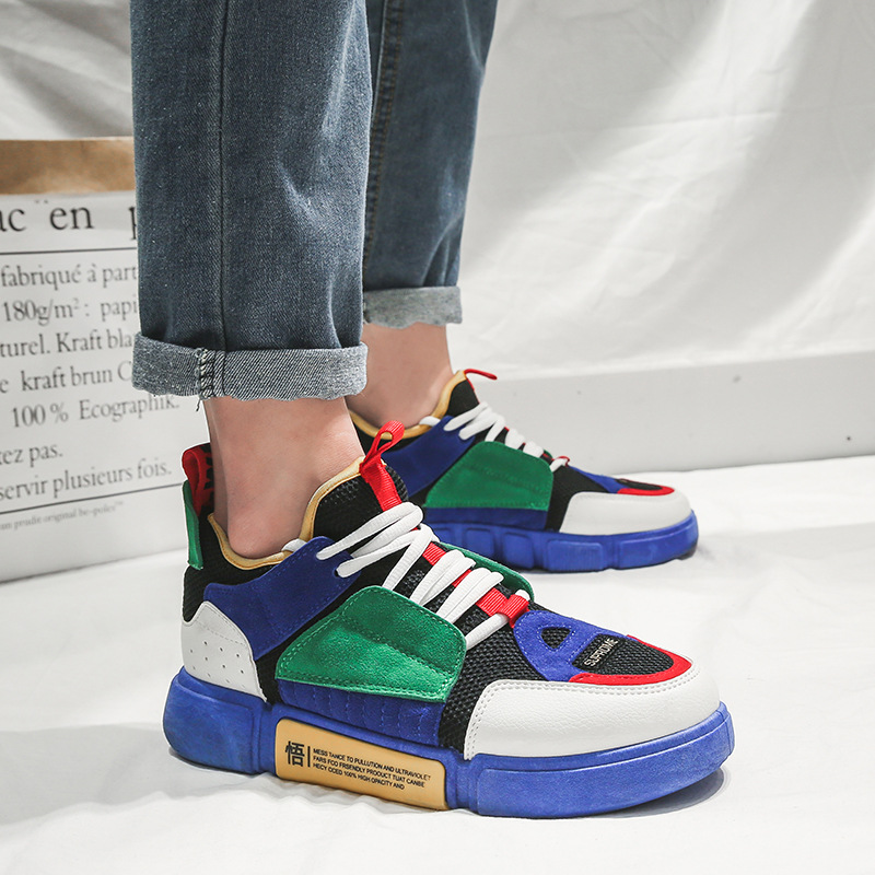 Venta de descuento 2019 como serch recogido € 25.04 20% de DESCUENTO|Ins Hot Autumn hombres Zapatos De colores  mezclados moda Casual Zapatos negro nobuck Flock Zapatillas para Hombre  Zapatos De ...
