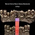 17 см пара герои Marvel Капитан Америка Человек-паук доктор Doom Халк крепление Рашмор статуя книжная подставка держатель подарки
