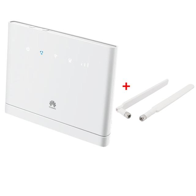 US $104 0  Unlock Huawei B315, Huawei 4G Portable Wireless WIFI Router  Huawei B315s 22 Lte Wifi Router+2pcs antenna-in Modem-Router Combos from