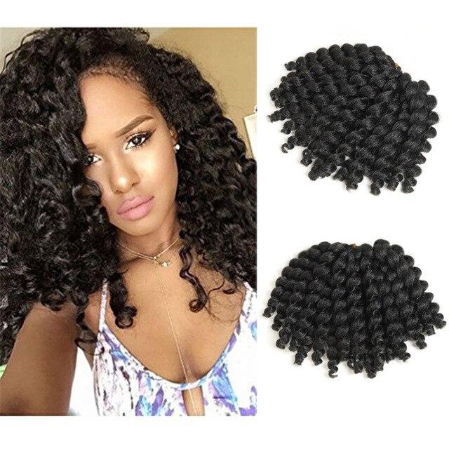 Jamaican Bob Hairstyle: Jamaicano Salto Cabelo De Crochê Jamaica Tranças De Crochê