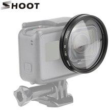 Shoot suporte de câmera preto para câmera, suporte de câmera para go 52mm macro hero 7 6 5 kits de acessórios pro hero 7 6 5
