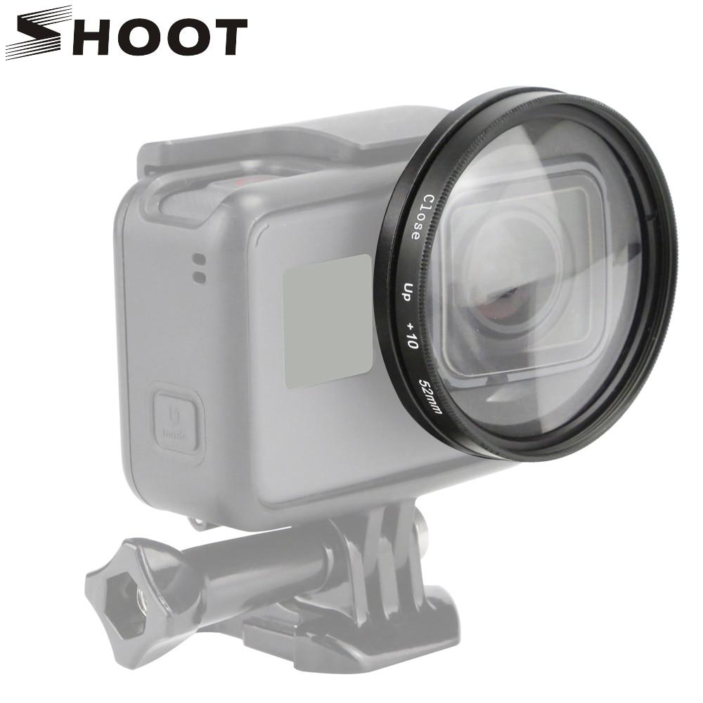 TIRER 52mm 10x Loupe Macro Close Up Lens pour GoPro Hero 6 5 Noir Sport Cam Hero5 Mont Go Pro Camera Action accessoires