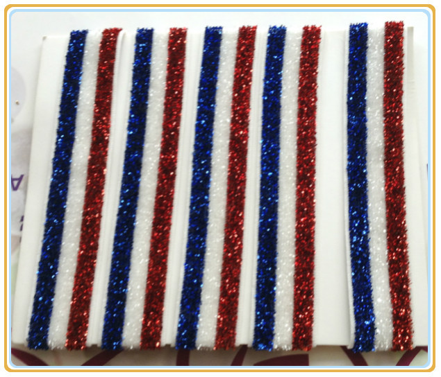 (Price Negotiated)The American Flag 5/8 Royal(Blue) / White / Red Rainbow Colour Stripe Elastic Ribbon