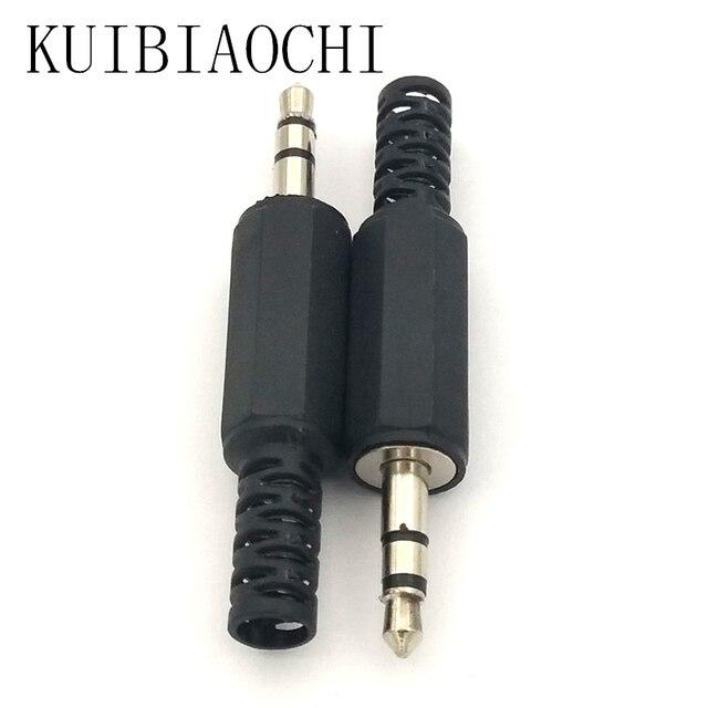 A01 10Pcs/lot Audio Jack Plug Headphone male Connector 3.5mm jack plug 3.5 stereo plug with Black Plastic LX1 Housing for phone