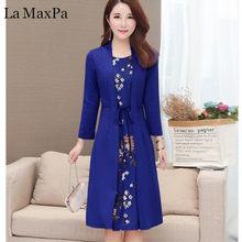 457c2ddfaad0 5XL Plus Size Dress 2019 Social Dress Elegant Lady Office Dress Autumn Women  Beautiful Midi Dress