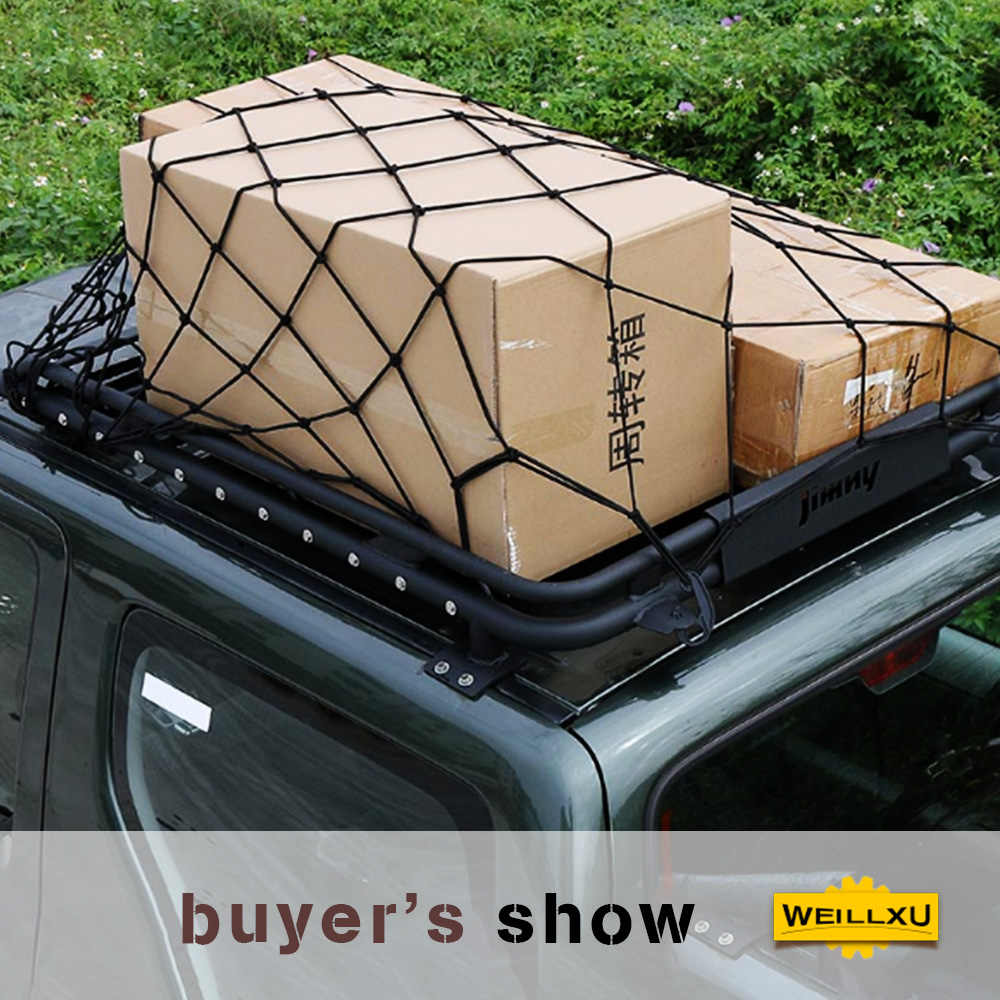 car roof rack cargo net trunk auto