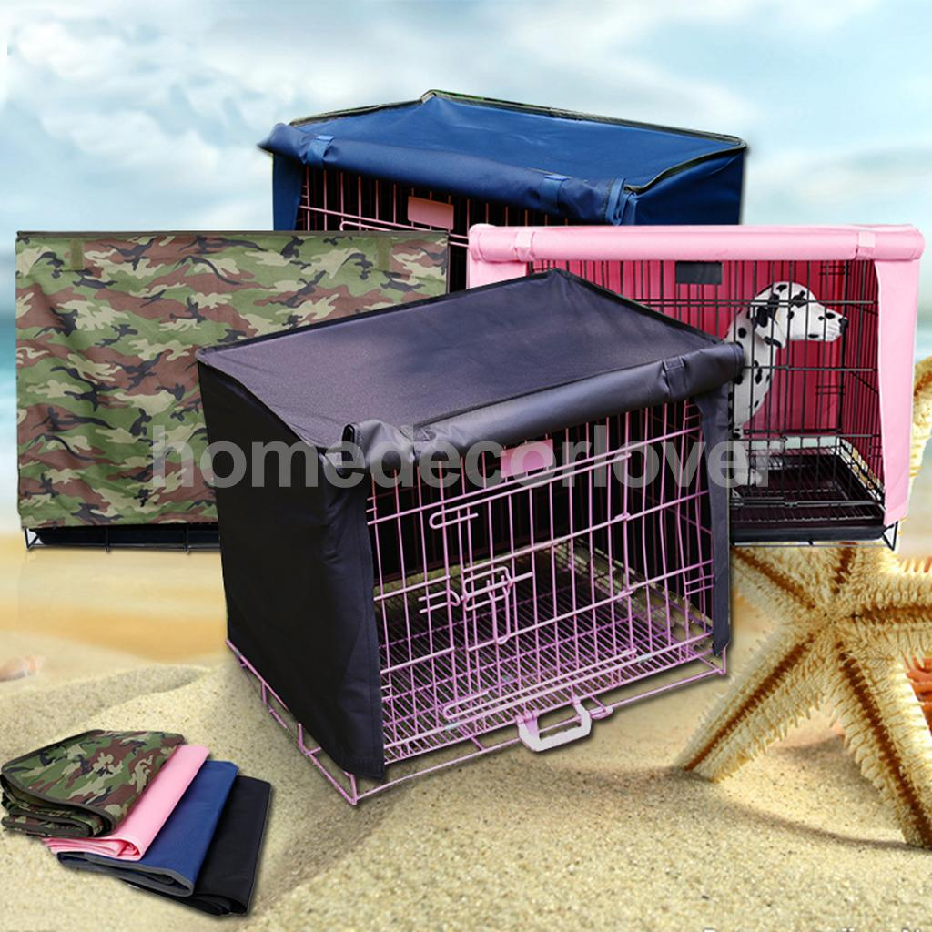 Pet Dog Crate Cage Kennel COVER 18 Length Size S/M/L/XL -4 Colors