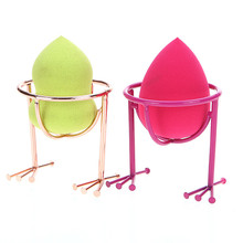 2pc  Makeup Beauty Stencil Egg Powder Puff Sponge Display Stand Drying Holder Rack New Arrival 17F22