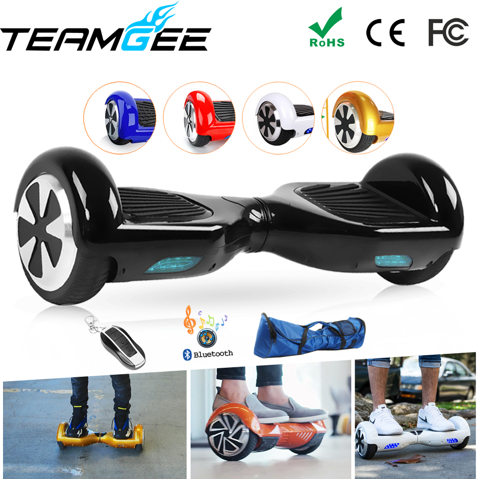Electric Skateboard 2 Two Wheel Smart Self Balance Scooter Hoverboard 6.5 Overboard Hoover Hover Board Unicycle RU/EU Warehouse 2 wheel electric balance scooter adult personal balance vehicle bike gyroscope lithuim battery