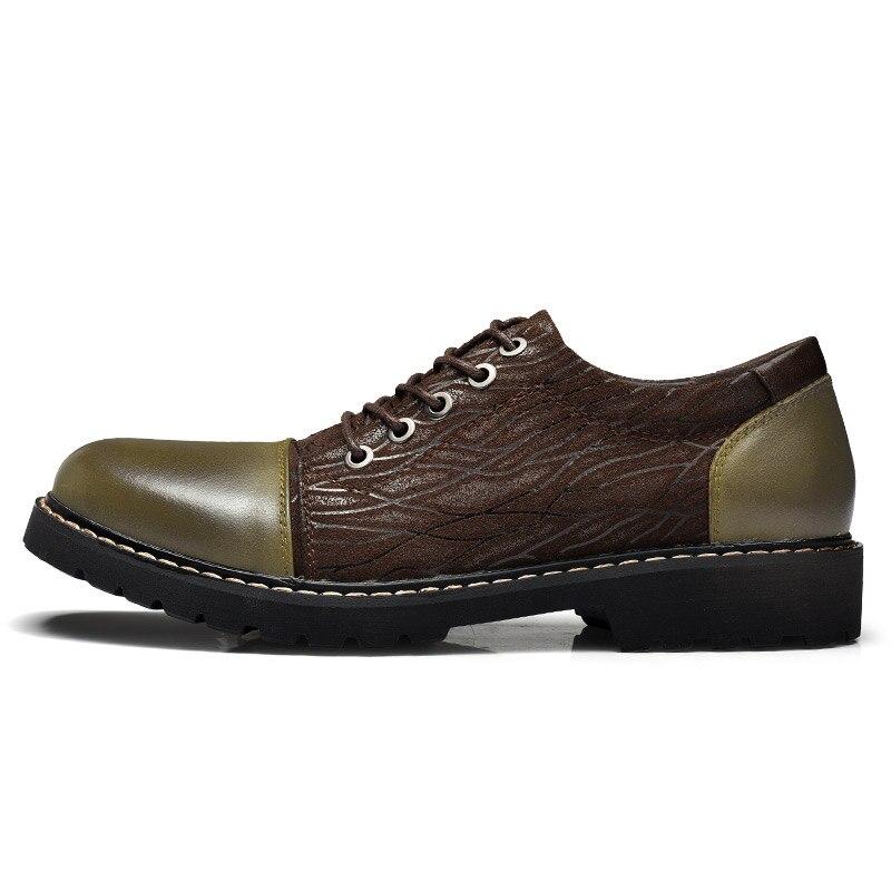 44 Couro Casuais Dos Genuíno Fora Preto Up Marrom Respirável De black 38 Sapatos Calçados Tamanho Portas Brown Homens Lace Oxfords 1gwT5qx