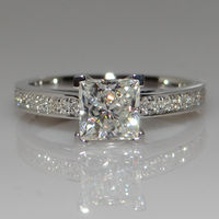 Victoria Wieck Handmade Princess Cut 1ct Diamonique Cz Diamond 925 Sterling Silver Party Wedding Band Rings