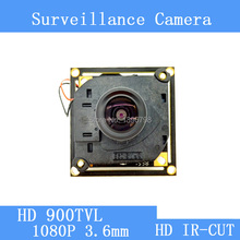 Color HD CMOS 900TVL CCTV Camera Module 1080P 3.6mm Lens + PAL or NTSC Optional surveillance cameras IR-CUT dual-filter switch