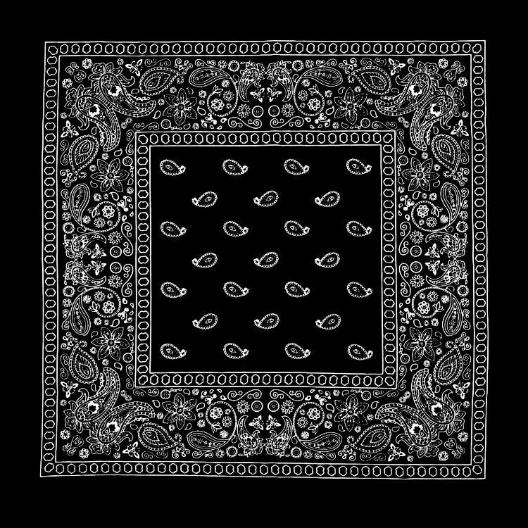 Korean Fashion Paisley Printed Neckerchief 100% Cotton Hip Hop Headwear/Hair Bandanas Foulard Square Scarf for Women/Men