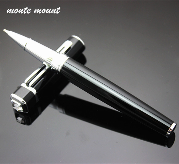 MONTE MOUNT diamond pen Luxury Metal Roller Ball Pen with 0.5mm Black Ink Refill Ballpoint Pens Signature pen for Christmas Gift карабин black diamond black diamond rocklock twistlock