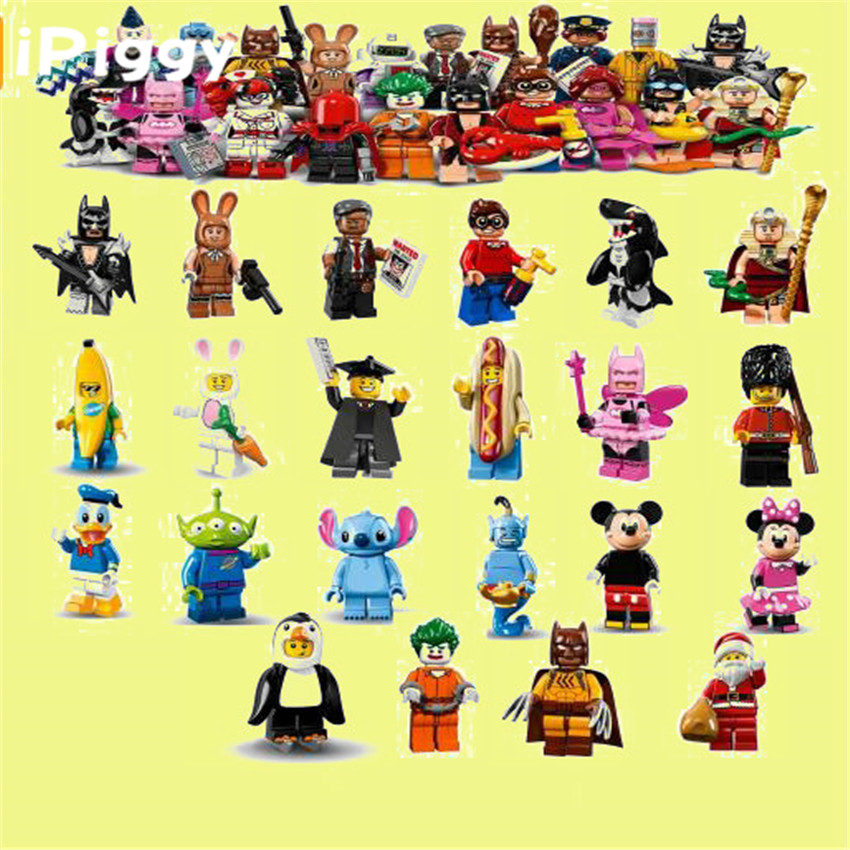 Various Batman Series  Banana Guy Rabbit Carro Penguin Man  Collectible Building Blocks Toy For Kinds
